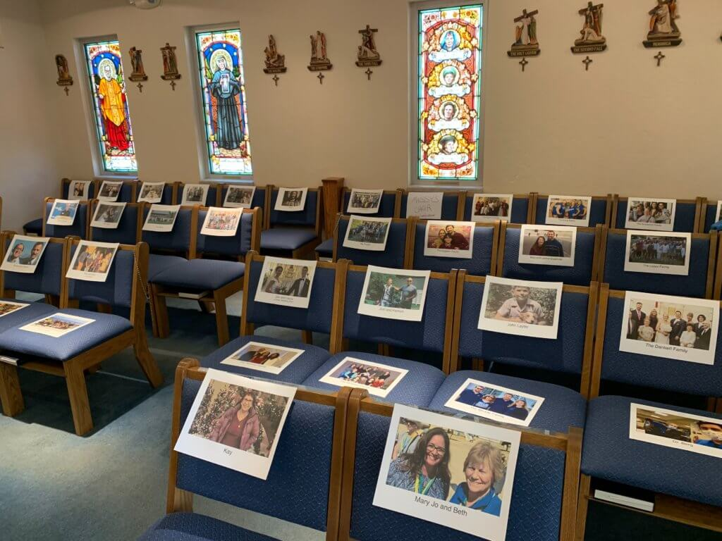 photos of our virtual parish at the Chapel of the Nativity