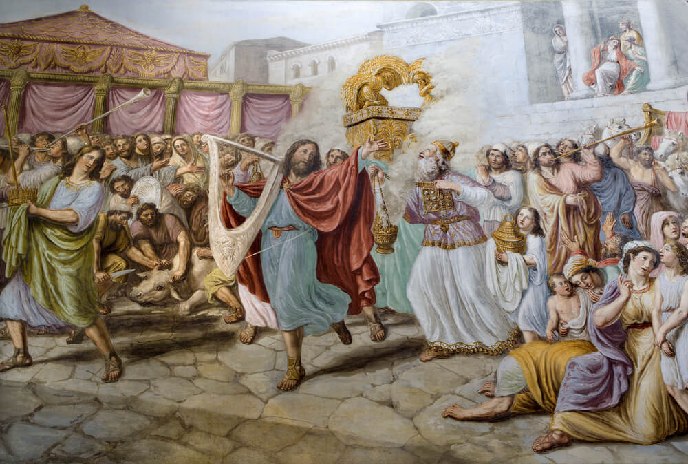 David dances before the Lord